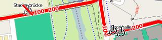 openptmap-Ausschnitt mit Rollstuhlsymbolen