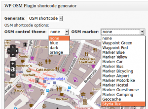 WordPress OpenStreetMap Plugin OSM Shortcode Generator