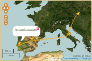 Das OpenStreetMap Plugin OSM für Reiseblogs
