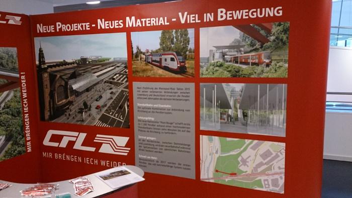 Foto einer Informationstafel der Luxemburgischen Staatsbahn