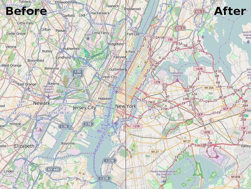 neuer Carto Map Style auf osm.org