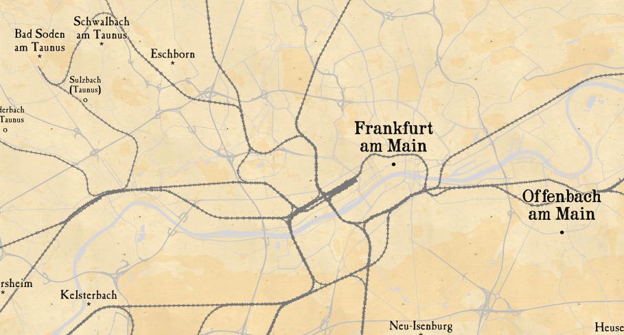 Kartenstil Pioneer von zielt auf die Pionierzeiten des Eisenbahnbaus