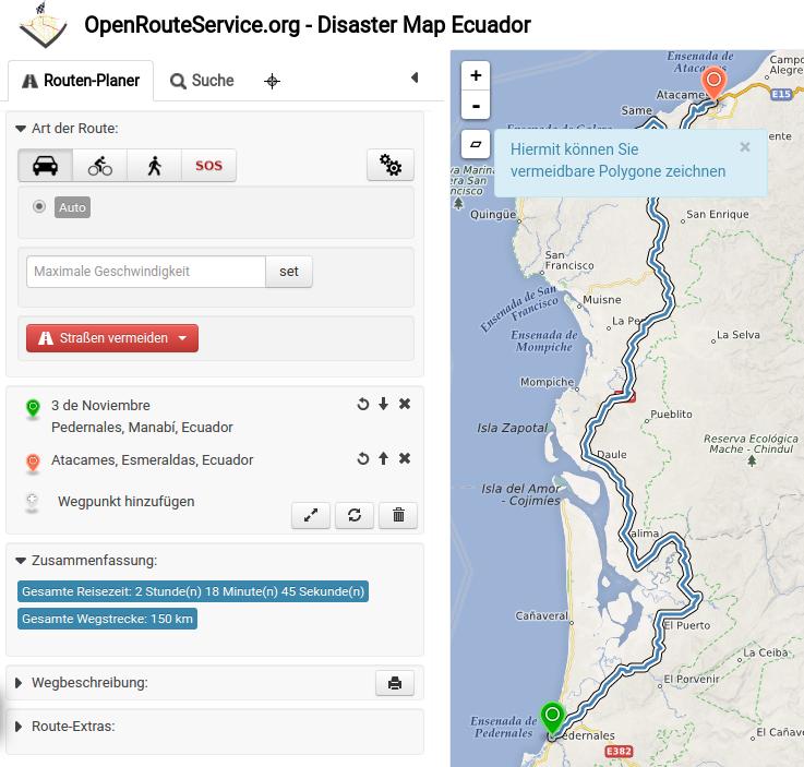 OpenRouteService im Katastropheneinsatz