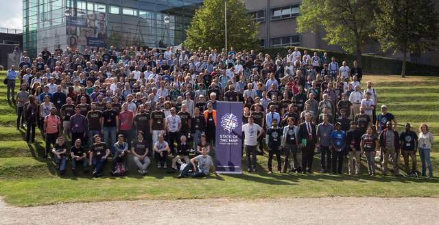 Gruppenfoto State of the Map 2016