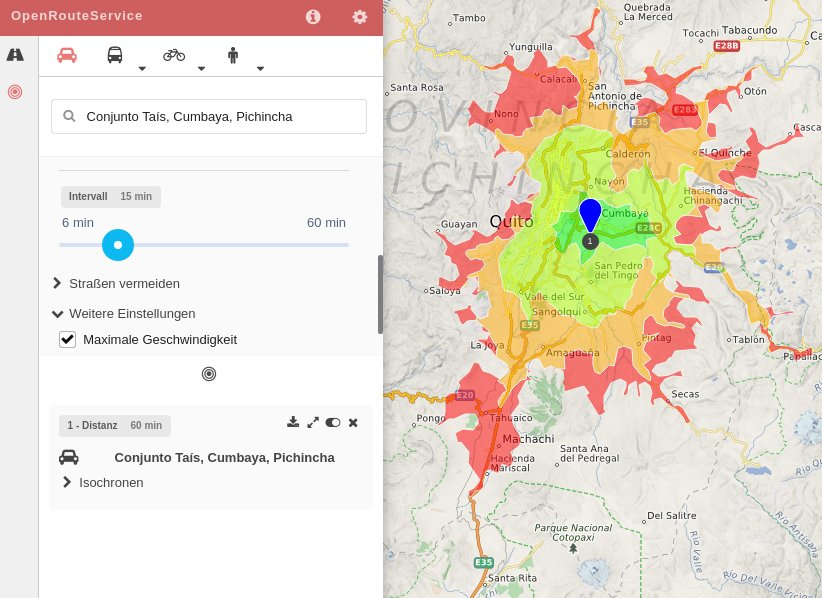 ORS-Isochrone