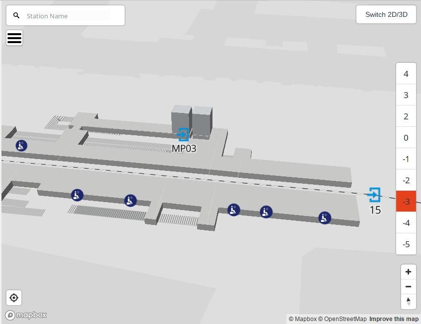Screenshot der OpenStationMap