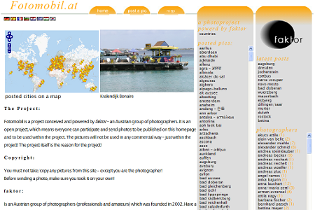Fotomobil Homepage with WordPress and OpenStreetMap