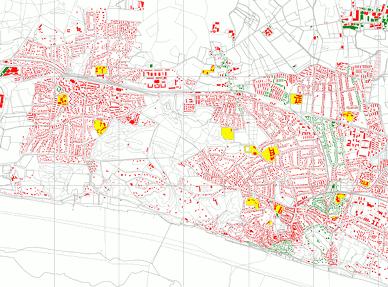 Hausnummerabdeckung im Gebiet vorher