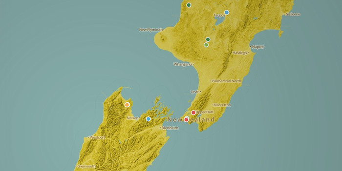 THE HOBBIT FILMING LOCATIONS - A Cartodb.js map