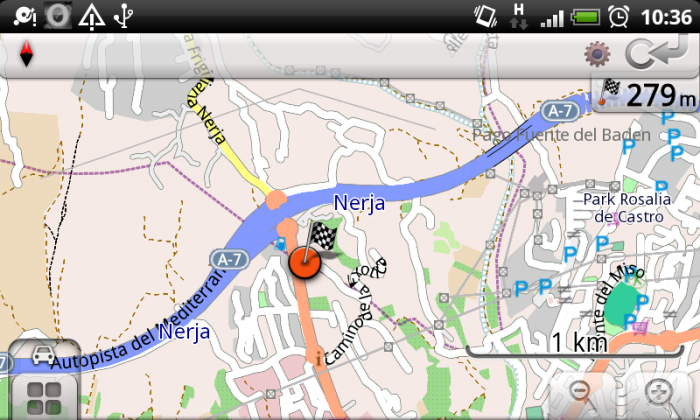OsmAnd Navigation auf Android