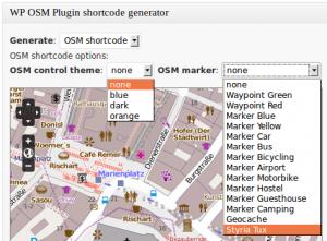 WordPress OpenStreetMap Plugin OSM Shortcode Generator
