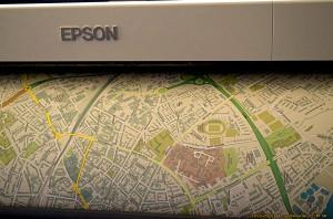 Kartendruck auf der FOSSGIS Konferenz