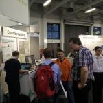 Vertiefte Gespräche auf dem OSM-Stand
