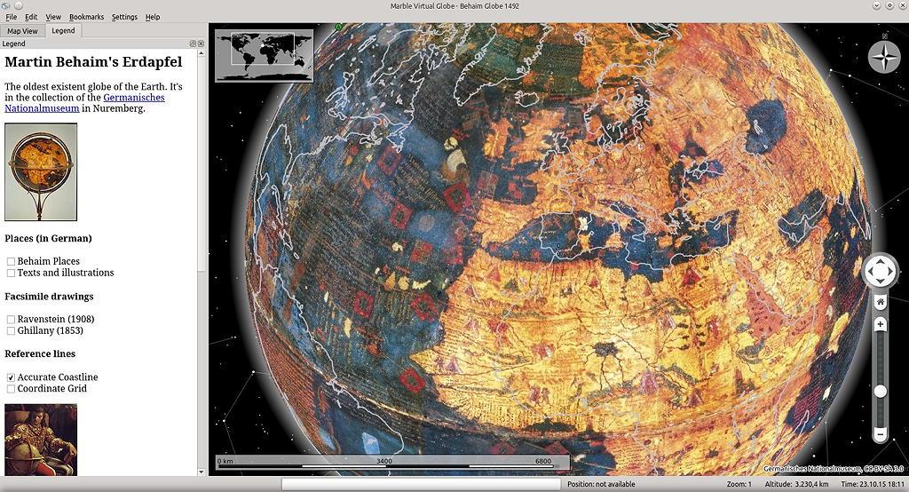 ältesten existierenden Globus bald in Marble