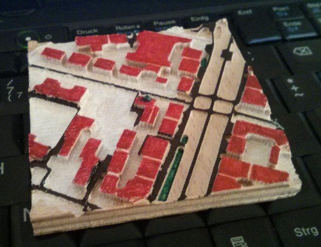 Herstellung einer taktilen Karte