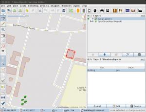 Screenshot JOSM doppeltes Gebäude