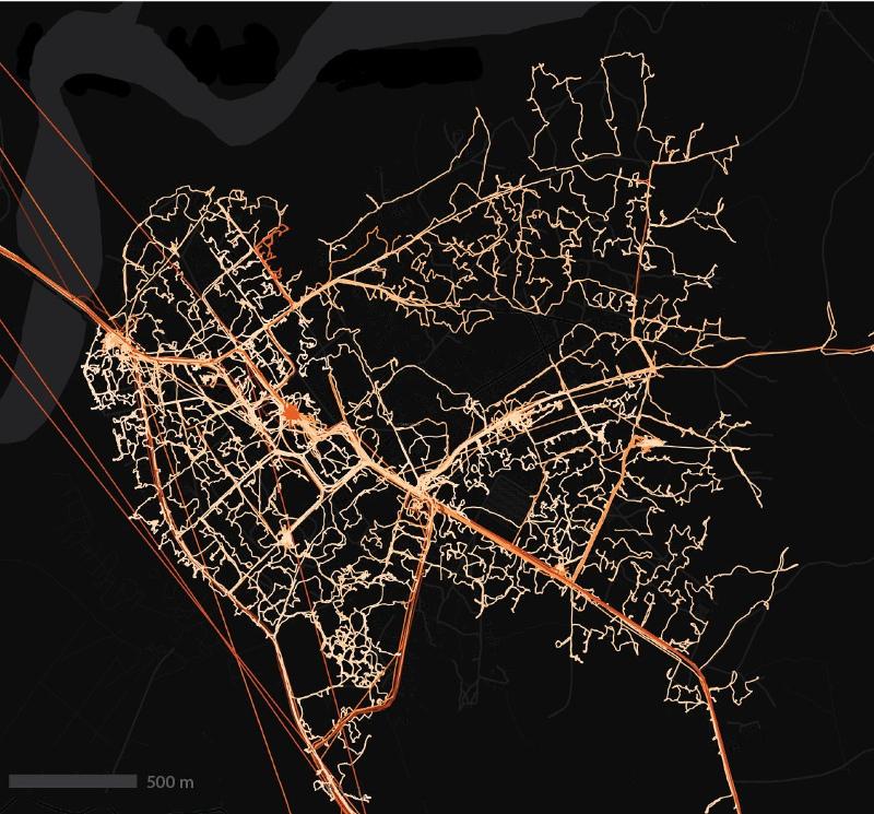 Karte mit neuen Straßen