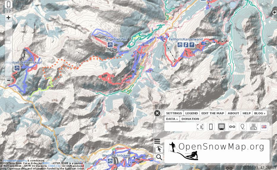 Überarbeitete Snowmap