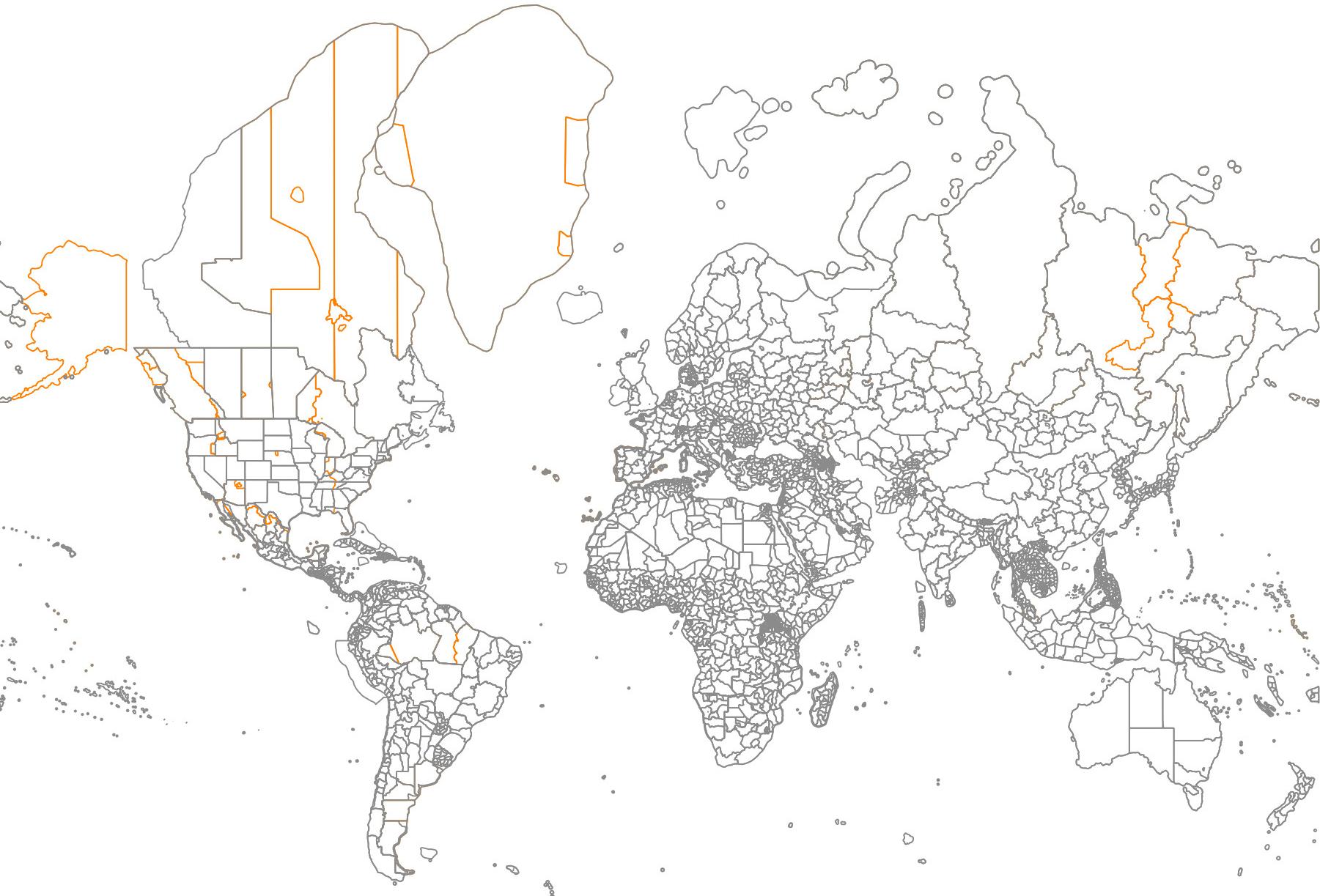 Die Zeitzonen und administrativen Grenzen im Vergleich