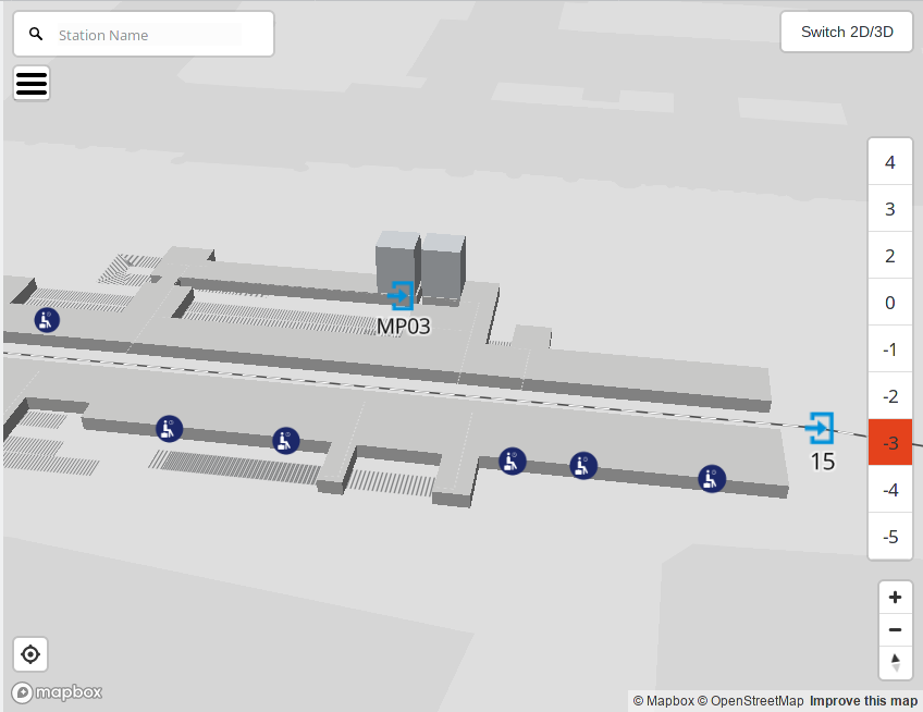 Screenshot der OpenStationMap